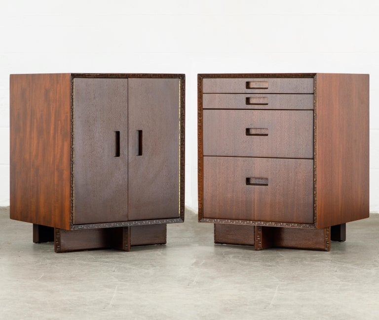 'Taliesin' Mahogany Chest of Drawers by Frank Lloyd Wright, 1955, Signed For Sale 12