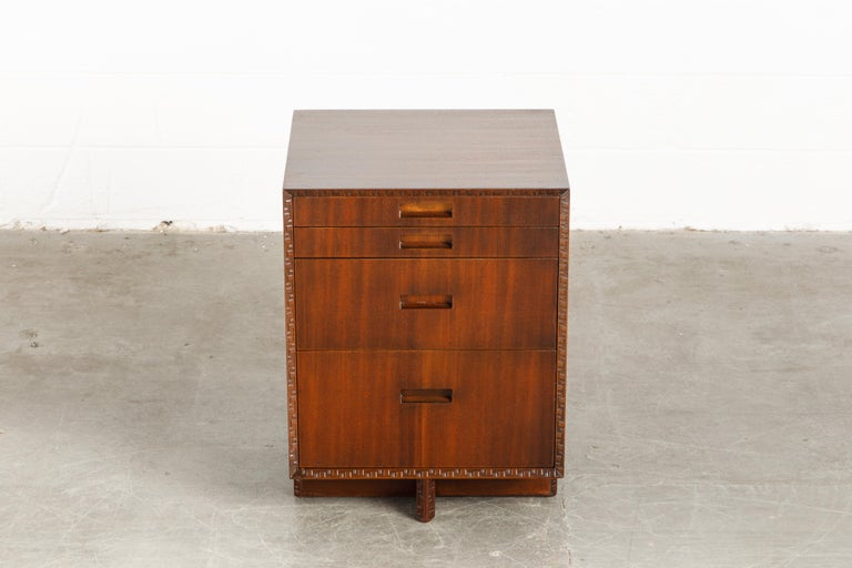 'Taliesin' Mahogany Chest of Drawers by Frank Lloyd Wright, 1955, Signed For Sale 1