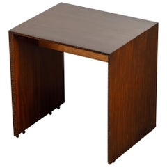 'Taliesin' Mahogany TV Dinner Table by Frank Lloyd Wright, 1955, Signed
