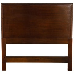 'Taliesin' Mahogany Twin Sized Bed Headboard by Frank Lloyd Wright, 1955, Signed