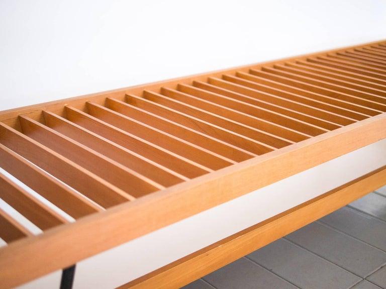 1950s Bench / Auxiliary Table in Pau Marfim Wood by Acácio Gil Borsoi, Brazil For Sale 3