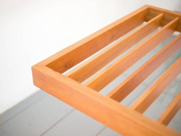 Mid-Century Modern 1950s Bench / Auxiliary Table in Pau Marfim Wood by Acácio Gil Borsoi, Brazil For Sale