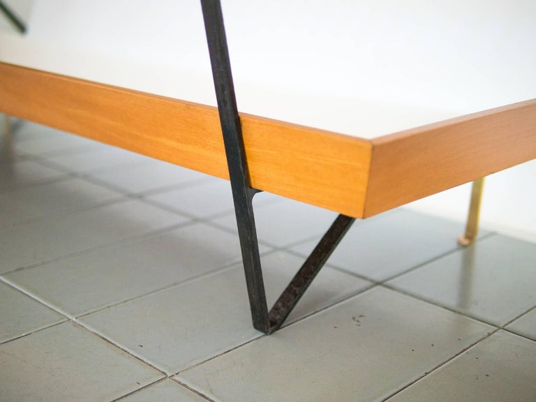 20th Century 1950s Bench / Auxiliary Table in Pau Marfim Wood by Acácio Gil Borsoi, Brazil For Sale