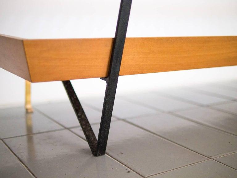 1950s Bench / Auxiliary Table in Pau Marfim Wood by Acácio Gil Borsoi, Brazil For Sale 2