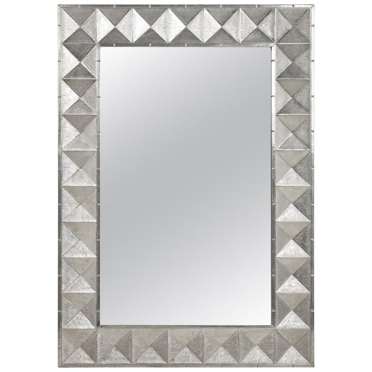 Talitha Nickel Wall Mirror For Sale