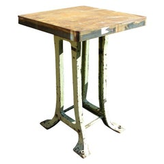 Tall 1900 Cast Iron Side Table