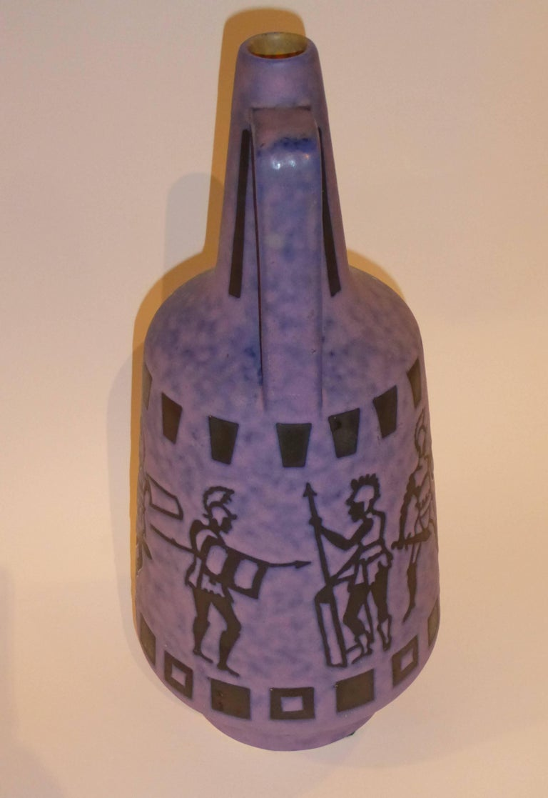 Tall 1960s Jopeko Keramik Vase Ewer Germany Mid-Century Modern In Excellent Condition For Sale In Miami, FL