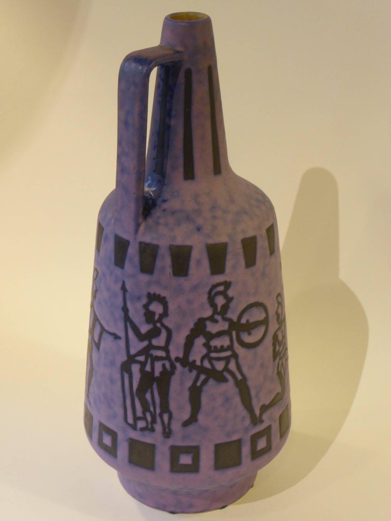 Clay Tall 1960s Jopeko Keramik Vase Ewer Germany Mid-Century Modern For Sale