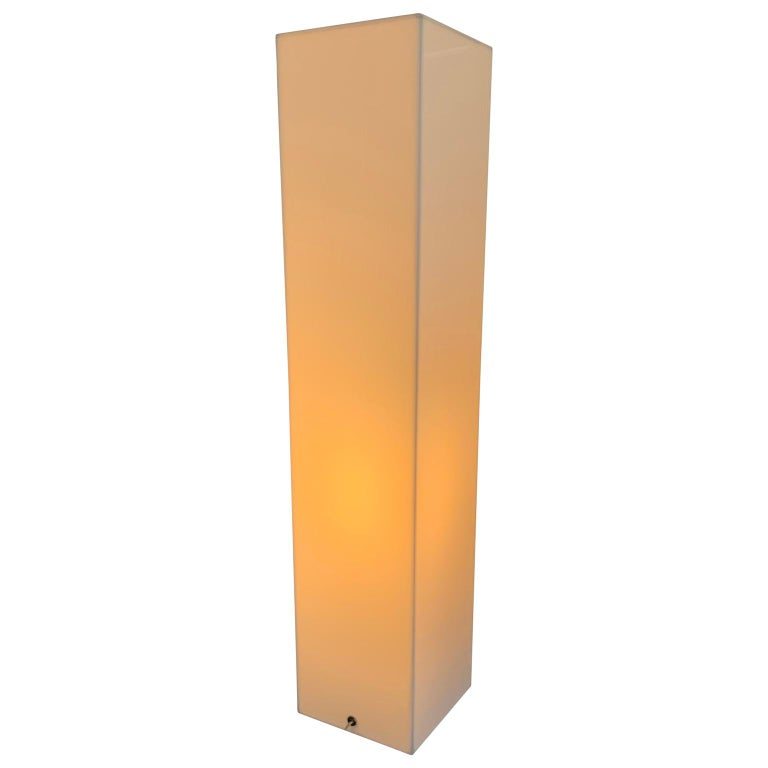 Tall 1970s Electrified White Lucite or Acrylic Pedestal Stand Display Column For Sale 12