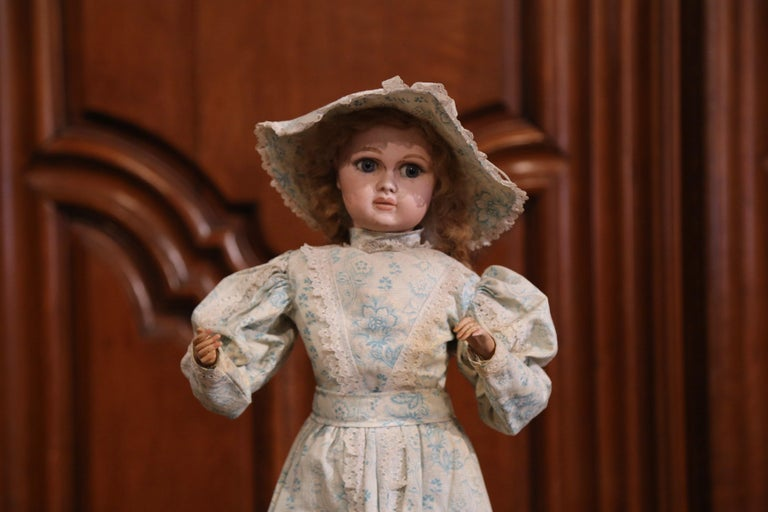 Hand-Crafted Tall 19th Century French Porcelain Musical Automaton Jumeau Doll For Sale