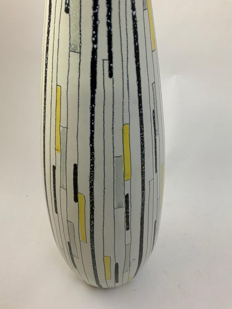 Mid-Century Modern Tall Aldo Londi for Bitossi Patchwork Vase For Sale