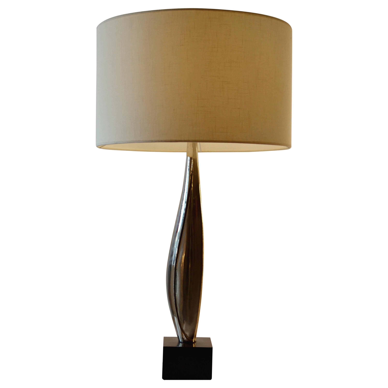 Table Lamp Maison Charles Nickel & Black Marble