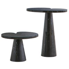 Tall Angelo Mangiarotti Eros Side Table in Nero Marquina Marble