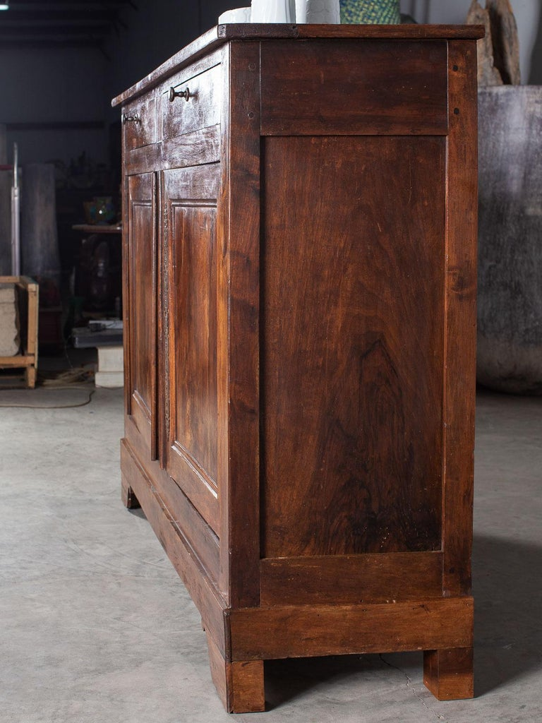 Tall Antique French Walnut Buffet Credenza, circa 1820 For Sale 8
