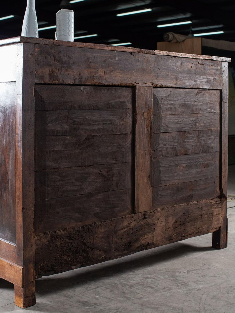 Tall Antique French Walnut Buffet Credenza, circa 1820 For Sale 9