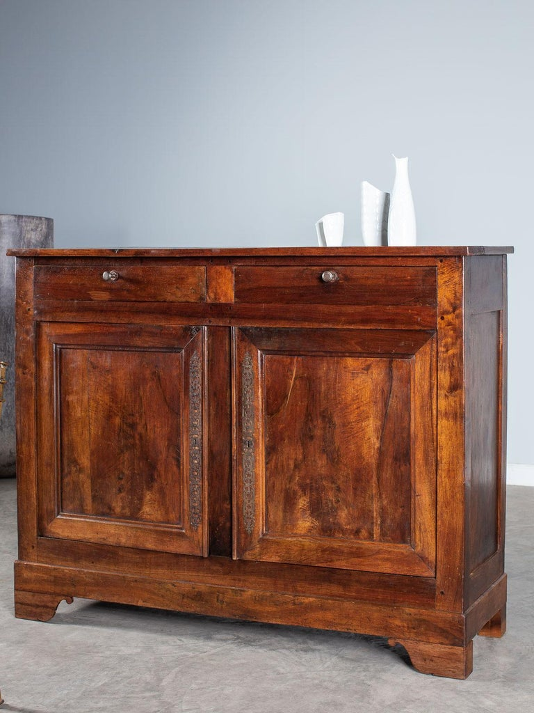 Tall Antique French Walnut Buffet Credenza, circa 1820 For Sale 10