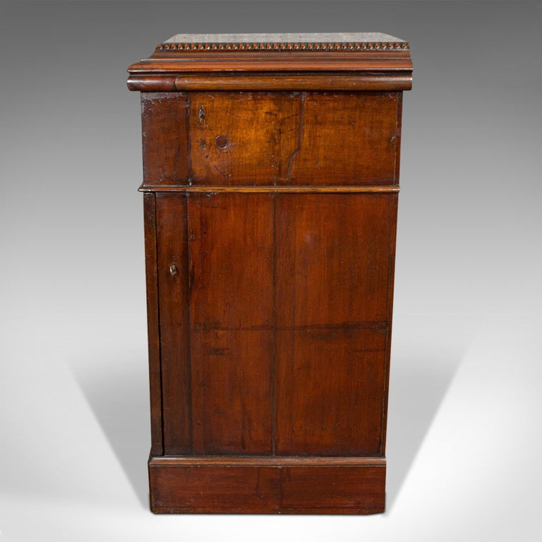 19th Century Tall Antique Side Cabinet, English, Mahogany, Bedside, Nightstand, Regency, 1820 For Sale