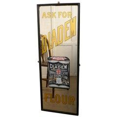 Tall Art Deco Advertising Mirror, Diadem Flour