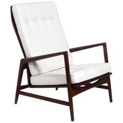 Tall Back Danish Modern Lounge Chair by Ib Kofod-Larsen