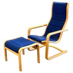 Tall Back Lamello Chair & Ottoman by Yngve Ekström for Swedese