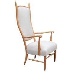 Tall Back Midcentury Armchair