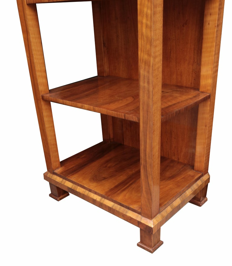 Tall Biedermeier Bookshelf In Good Condition For Sale In New York, NY