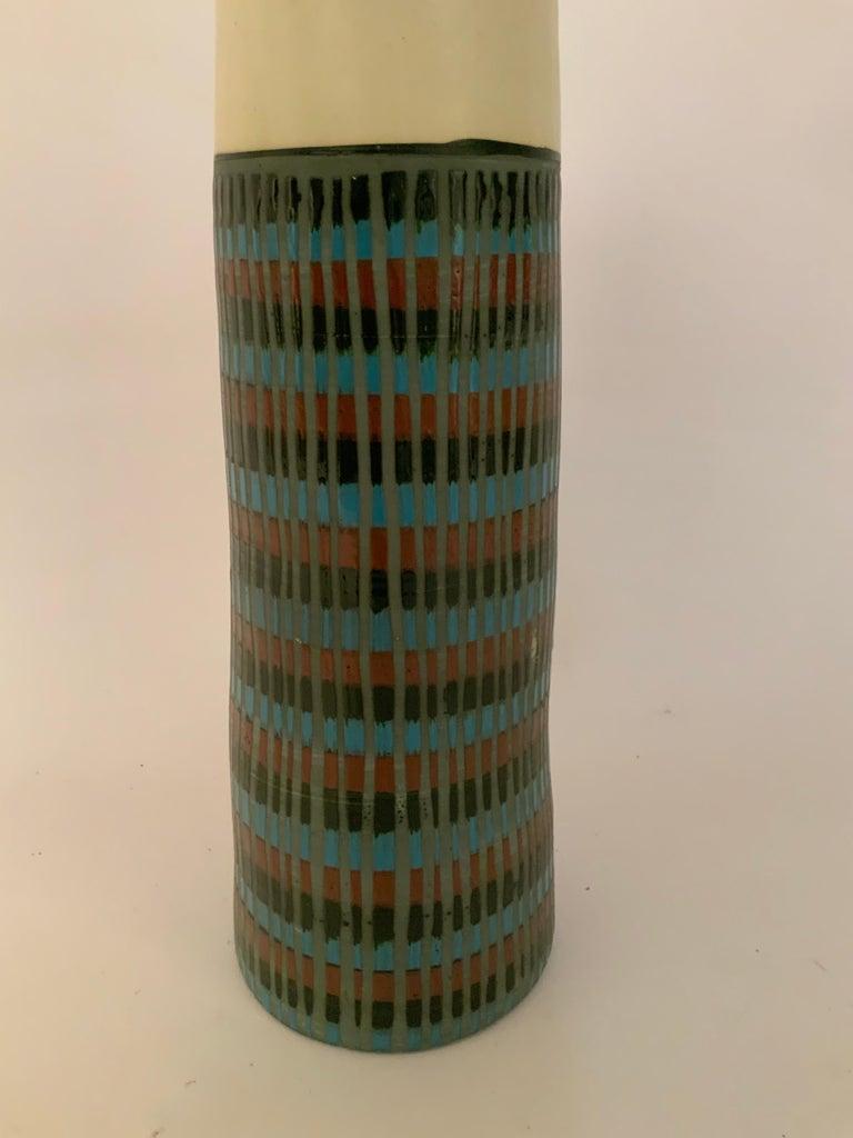 Tall Bitossi Italian Pottery Vase For Sale 1