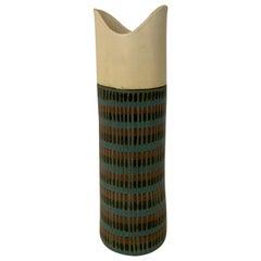 Tall Bitossi Italian Pottery Vase