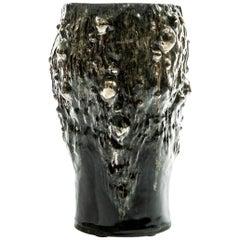 Tall Black and Metallic Vessel (I) by Trish DeMasi