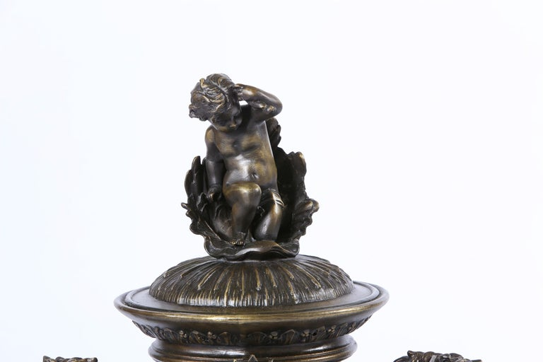 20th Century Tall Bronze Covered Decorative Urn / Piece For Sale
