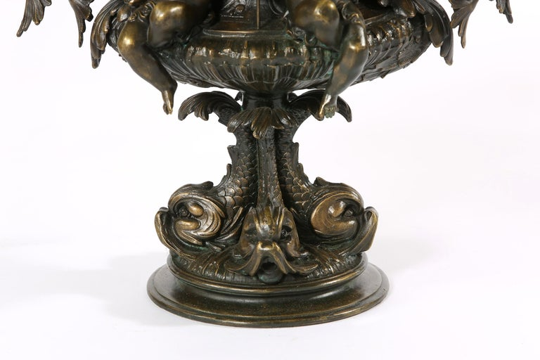 Tall Bronze Covered Decorative Urn / Piece For Sale 1