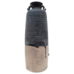 Tall Brown & Black Thai Vase