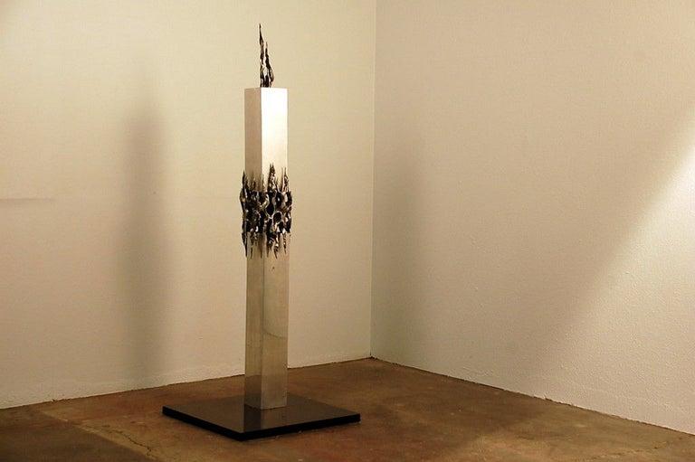 Tall Brutalist sculpture. A stunning piece.