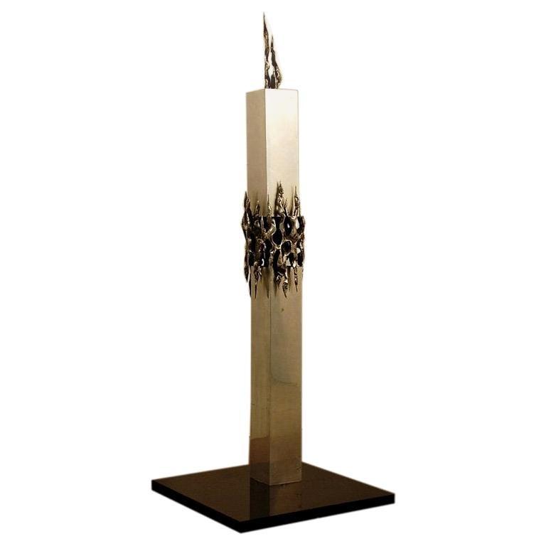 Tall Brutalist Sculpture