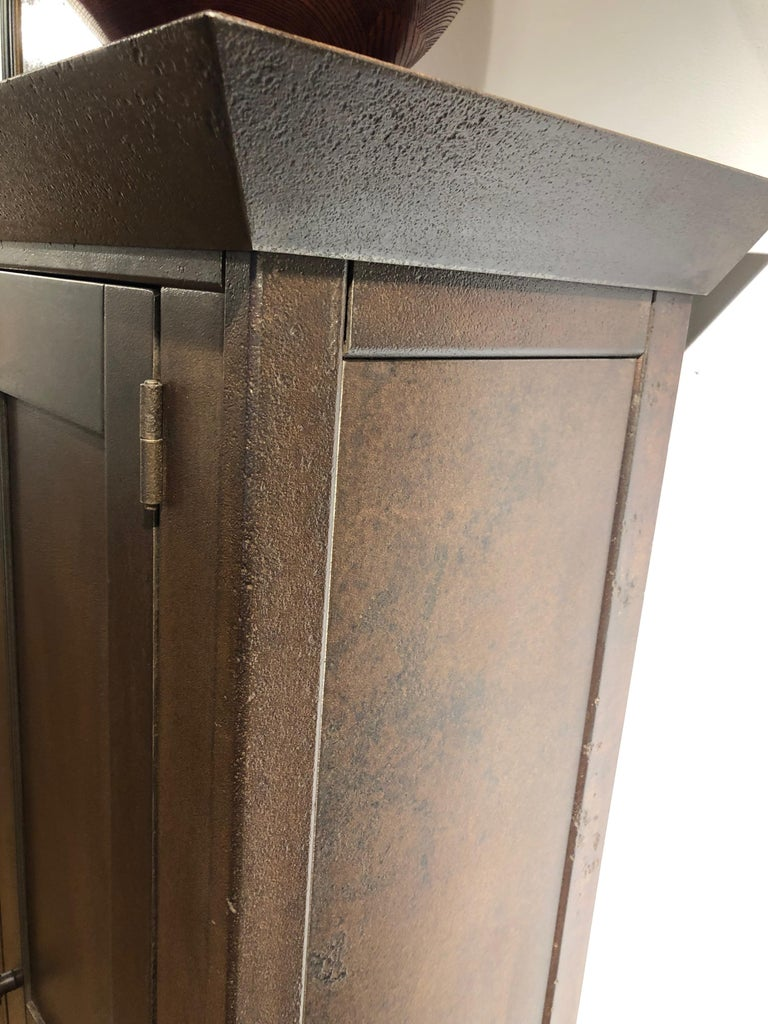 Contemporary Jim Rose Legacy Collection - Tall Cabinet, Shaker Inspired Steel Cupboard For Sale