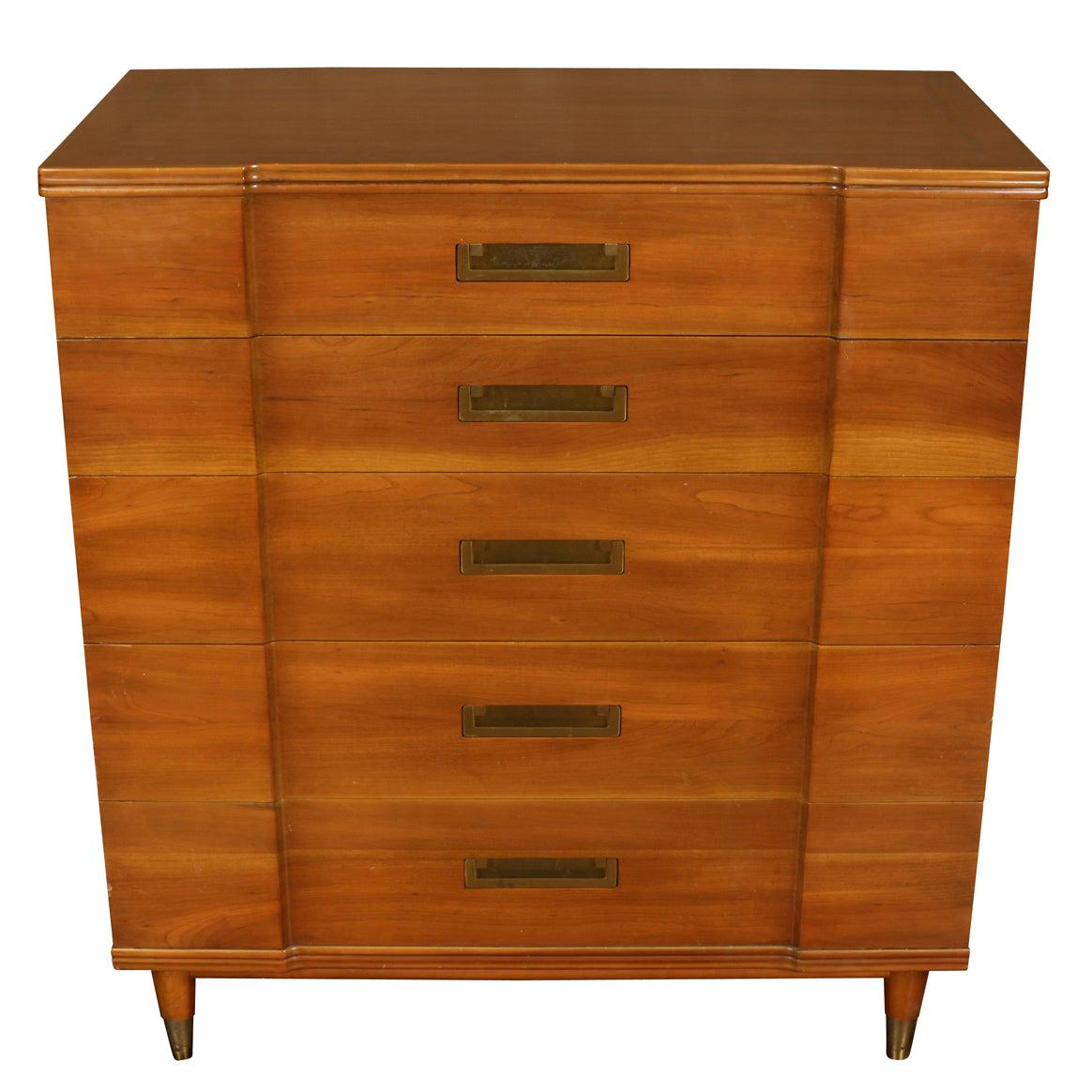 Tall Campaign Chest by John Clingman for Widdicomb