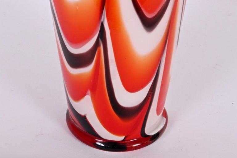 Modern Tall Carlo Moretti Burgundy, Orange and White