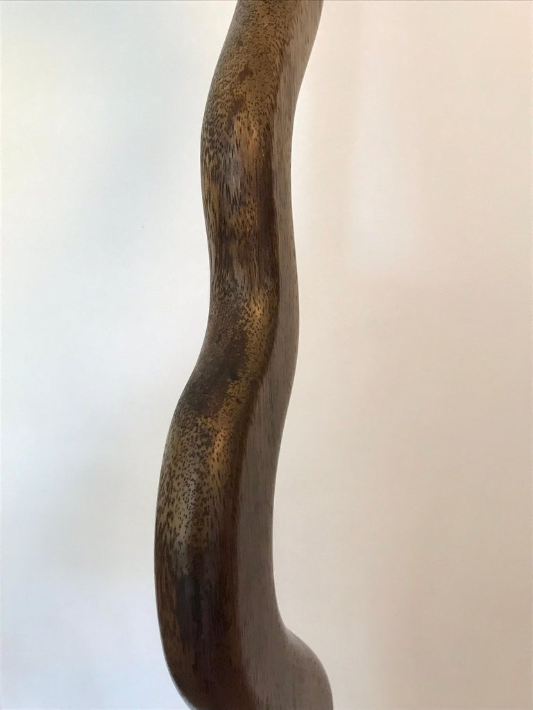 Tall Carved Wood Sculpture For Sale 5