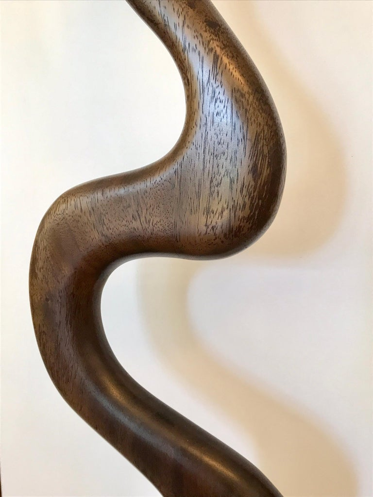 Tall Carved Wood Sculpture In Good Condition For Sale In Los Angeles, CA