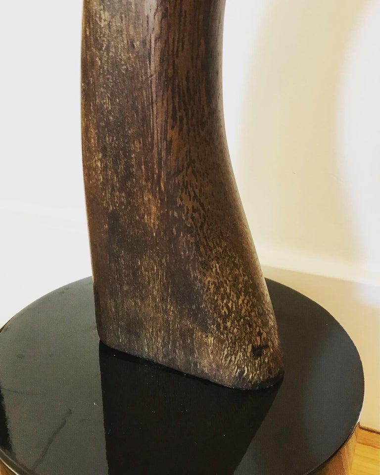 Tall Carved Wood Sculpture For Sale 1