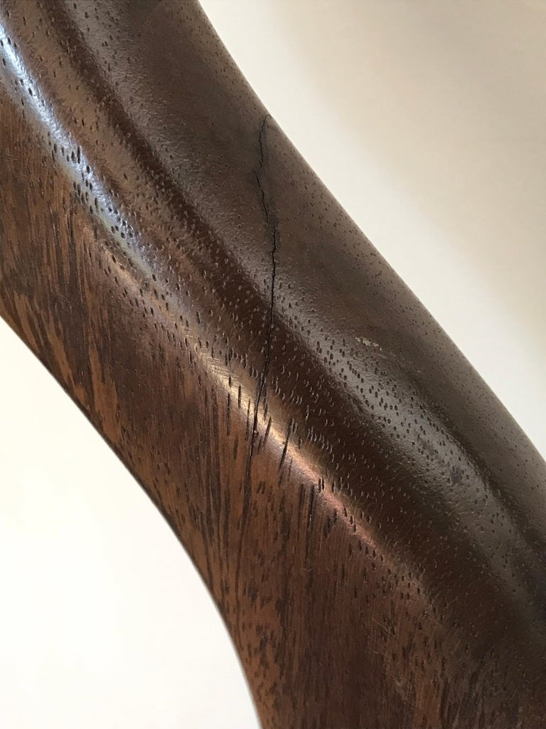 Tall Carved Wood Sculpture For Sale 2