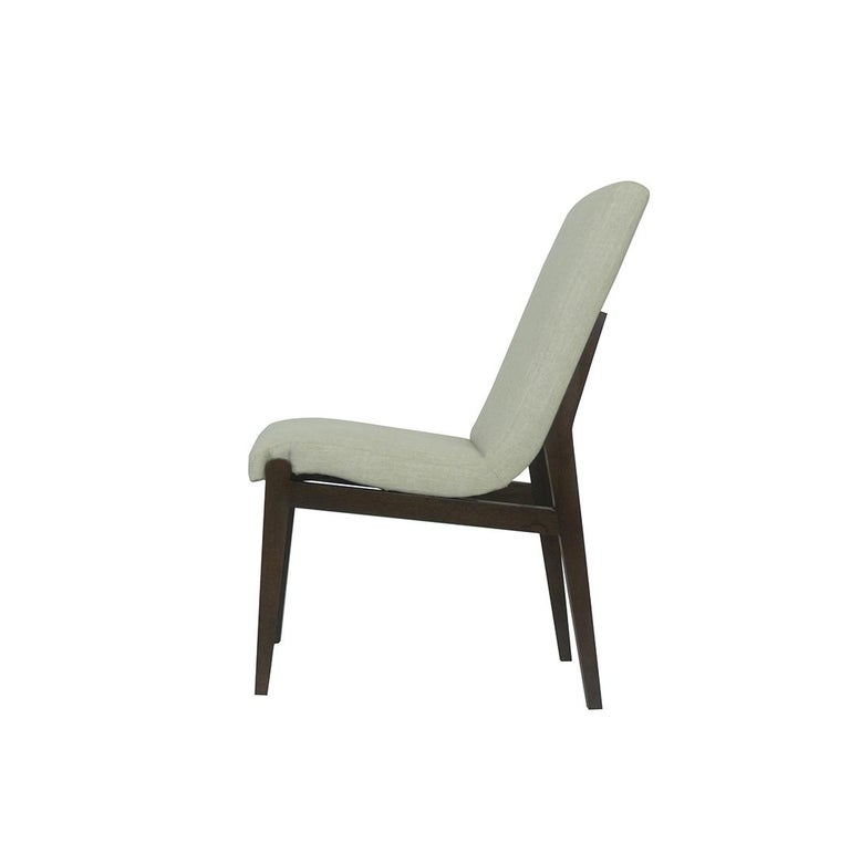 American Tall Casual Upholstered Dining Chair For Sale