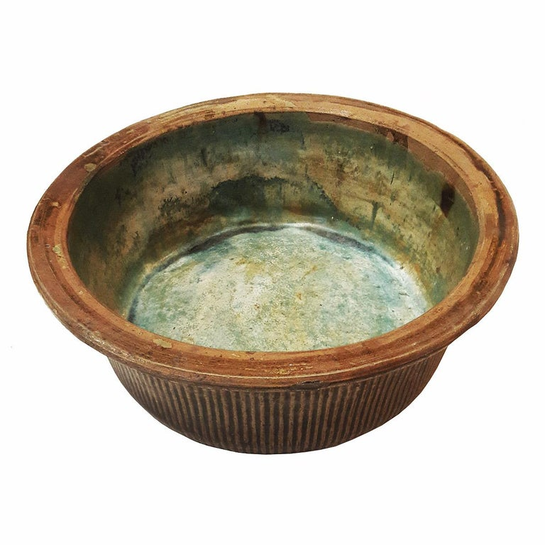 Other Tall Ceramic Bowl from Indonesia, Mid-20th Century For Sale