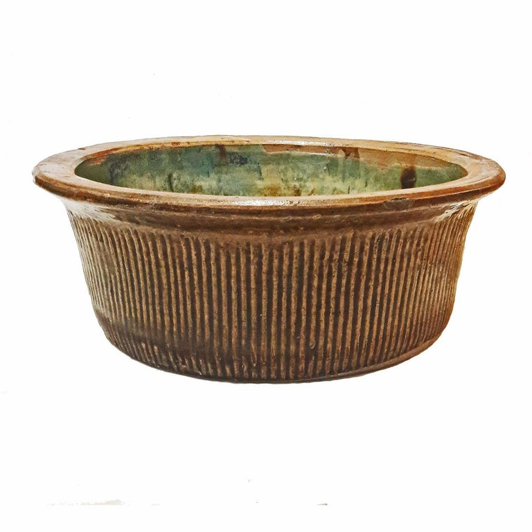 Indonesian Tall Ceramic Bowl from Indonesia, Mid-20th Century For Sale
