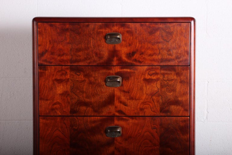 Tall Chest by Edward Wormley for Dunbar In Good Condition For Sale In Dallas, TX