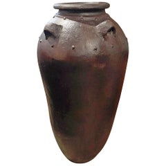 Tall Clay Jar from Indonesia
