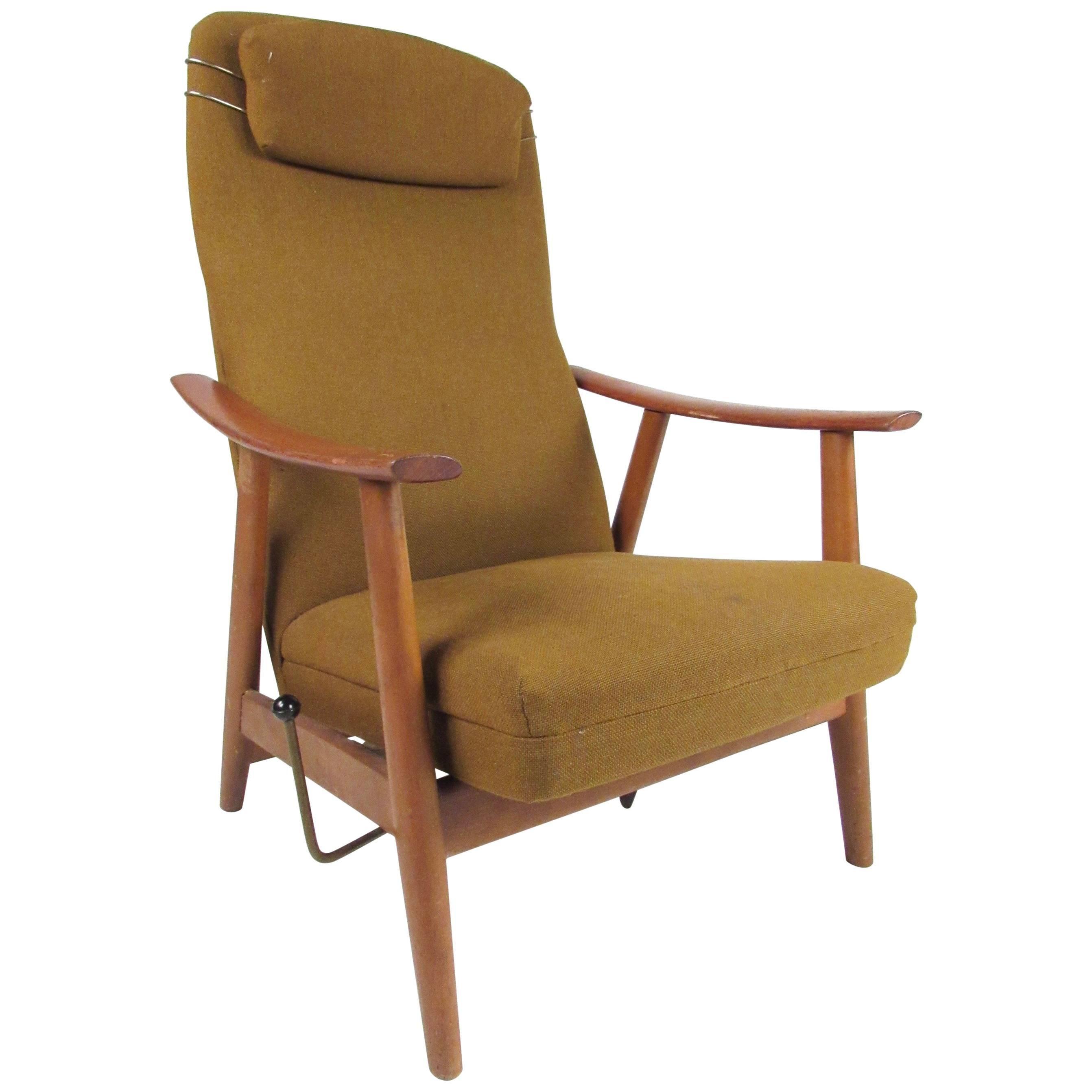 Tall Danish Modern Lounge Chair
