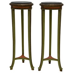 Tall Display Pedestals or Plant Stands, a Pair