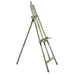 Tall Early 20th Century English Gray Painted Easel