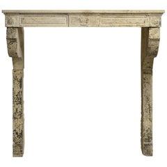 Tall, Elegant Louis XVI Fireplace Mantel